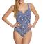 Miraclesuit-Womens-Blue-Majorca-Sanibel-One-Piece-Swimsuit-Sz-14-6703 miniature 1