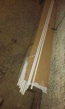 5Stück Kabelkanal PVC Weiß, Kabelleiste Brüstungskanal ca. 10x15mm x 2m