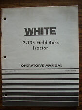 White 2 135 Owners Manual