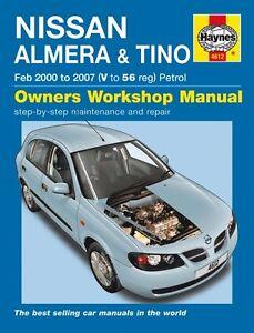 haynes owners workshop manual nissan pulsar 00 07 service repair rh ebay com au 1997 nissan pulsar repair manual nissan pulsar n16 repair manual