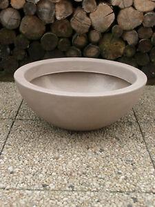 Pflanztopf-Blumentopf-Pflanzschale-Blumenschale-52cm-PVC-taupe-sandfarben