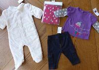 0-3 Month Girls Baby Gap Winter Clothes Lot $76 Retail Pram Bodysuit