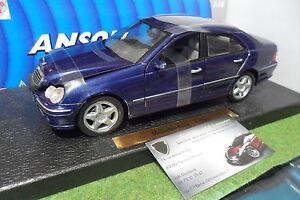 MERCEDES-BENZ-C-CLASS-Berline-bleu-au-1-18-ANSON-30390-voiture-miniature