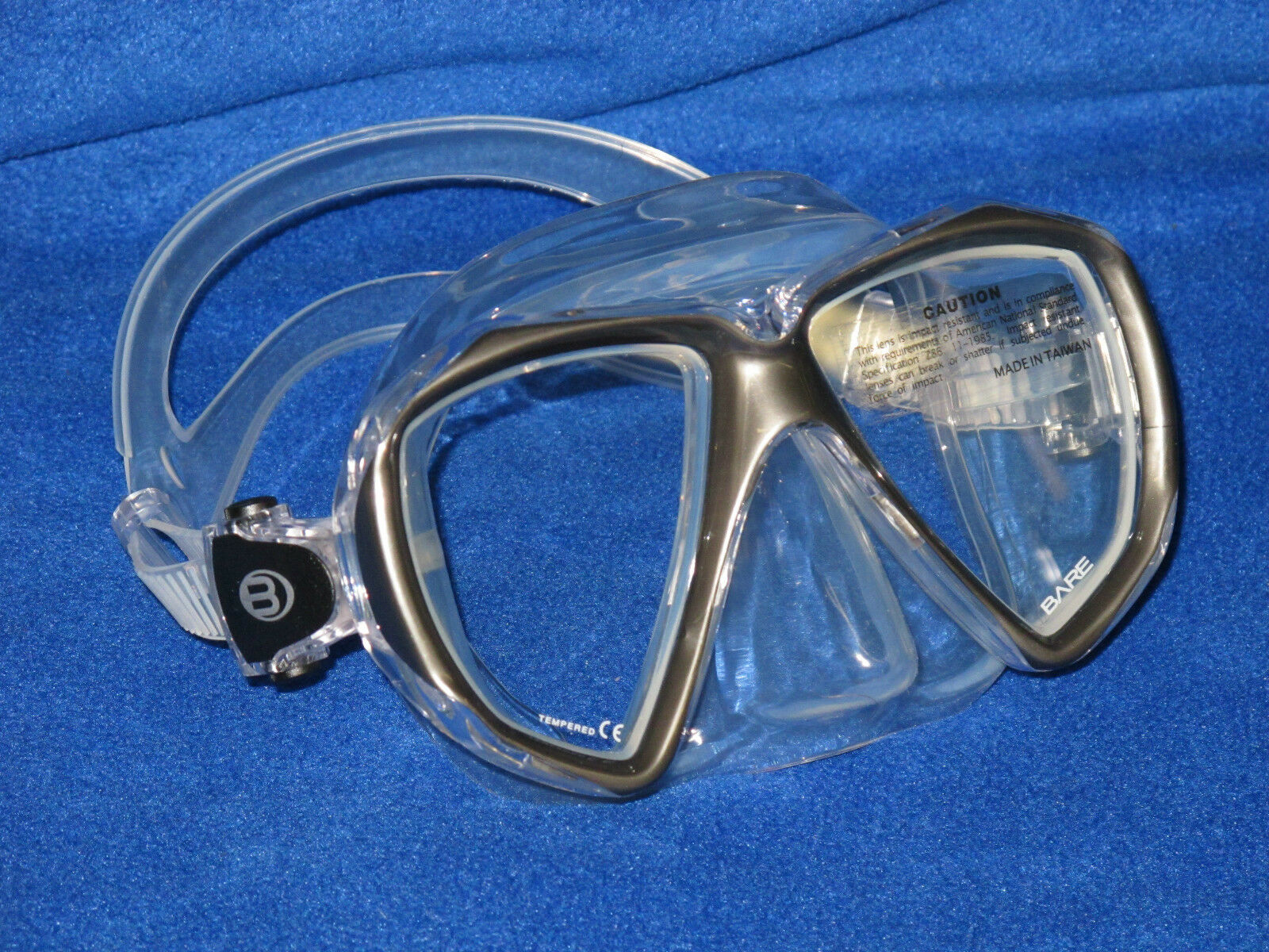 Bare Duo C Scuba Diving and Snorkeling Mask - Titanium frame color