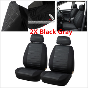 2Pcs Car Front Seat Cushion Seat Covers For Car Interior Accessories 5MM Foam