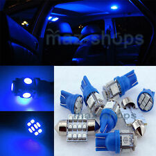 12V Blue Interior LED Light Package 7PCS Kit Fit Mitsubishi Lancer ML1B 07-14