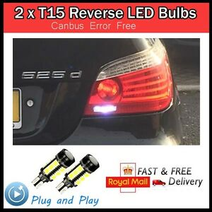 2 x t15 w16w led canbus error free reverse bulb audi a3 a4. Black Bedroom Furniture Sets. Home Design Ideas