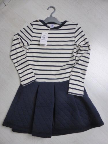 marine mit natur geringelt Kleid Sweat-Shirt Stil NEU!!! von Petit Bateau