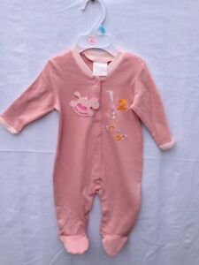 Months Available Babies Pink Sleepsuit 3/6 st0003