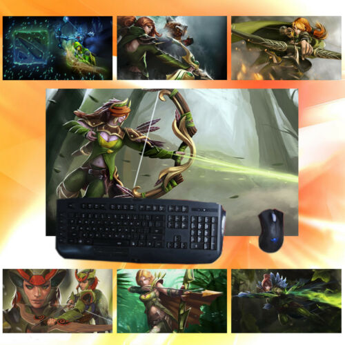 DOTA2 Windranger Lyralei Keyboard Mouse Pad Mat Custom Game Playmat for DOTA 2