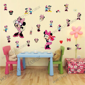Image Is Loading 25PCS Minnie Mouse Disney Wall Decals Sticker Vinyl