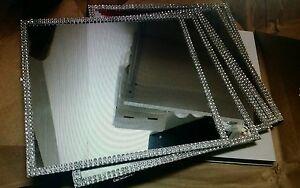 10-Square-Mirror-Wedding-Centrepiece-Bases-With-Diamonte-Trim-20cm