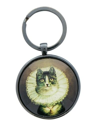 Victorian Trading Co Elizabethan Cat Key Ring Fob