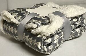 Sherpa-Throw-Luxury-Blanket-Twin-Size-60-034-x80-034-Reversible-Velvet-Flannel-3-8lbs