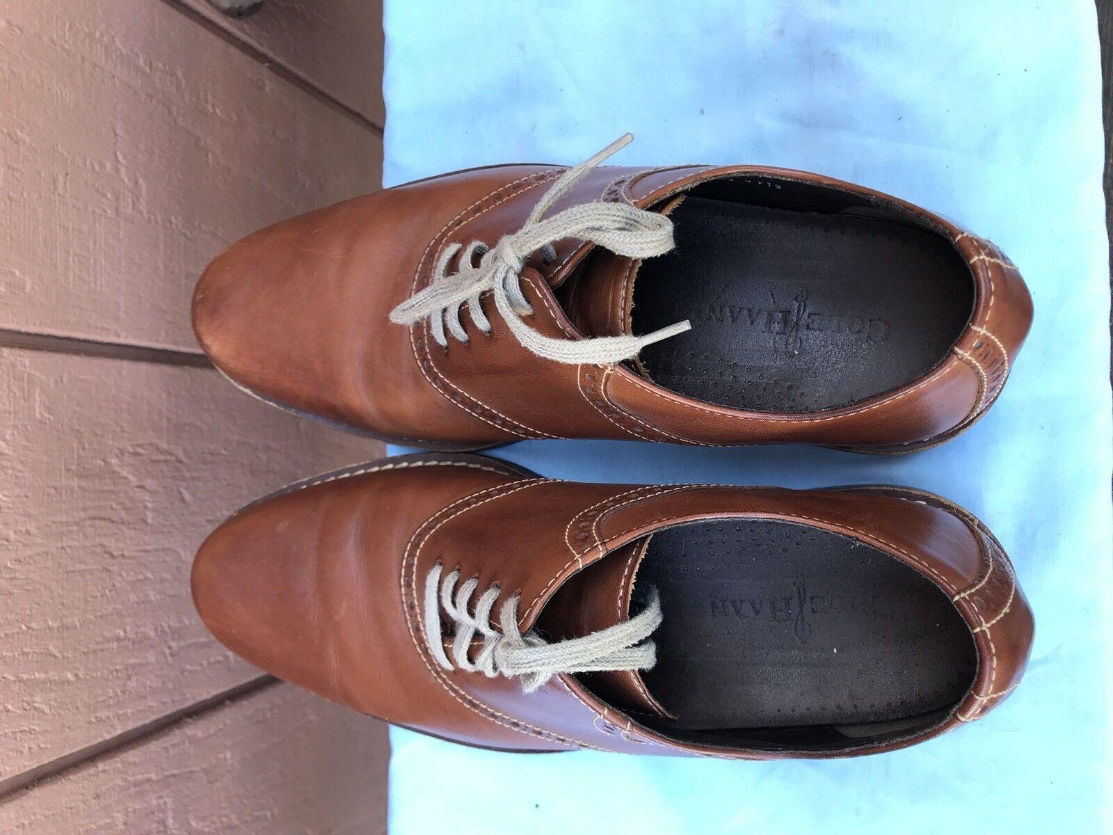 EUC COLE COLE COLE HAAN Drake C10509 Tan Plain Toe Saddle Oxford Brogue US 10.5M  198 A6 e42da7