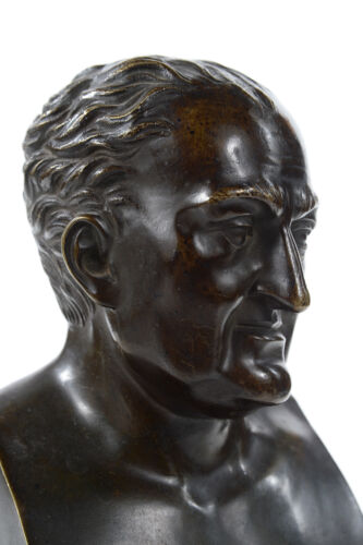 19th century Heller Bronze bust wMarble base c1840s