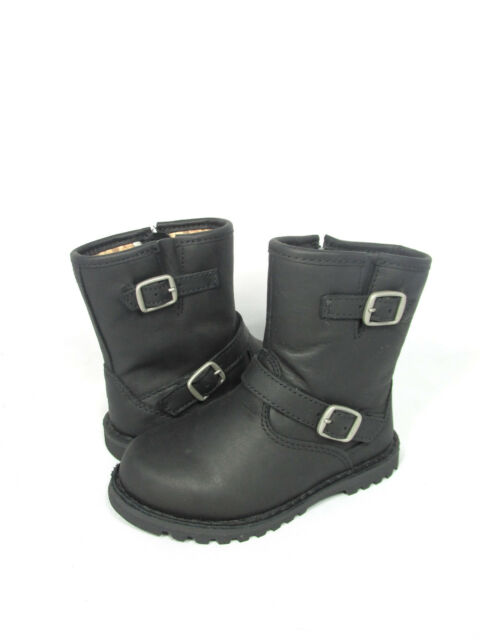 db56b591f4f NEW TODDLER LITTLE KIDS UGG AUSTRALIA BOOT HARWELL BLACK 1001515 ORIGINAL