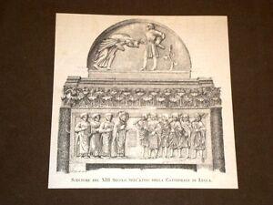 Nell-039-Atrio-della-Cattedrale-di-Lucca-nel-1884-Sculture-del-XIII-secolo