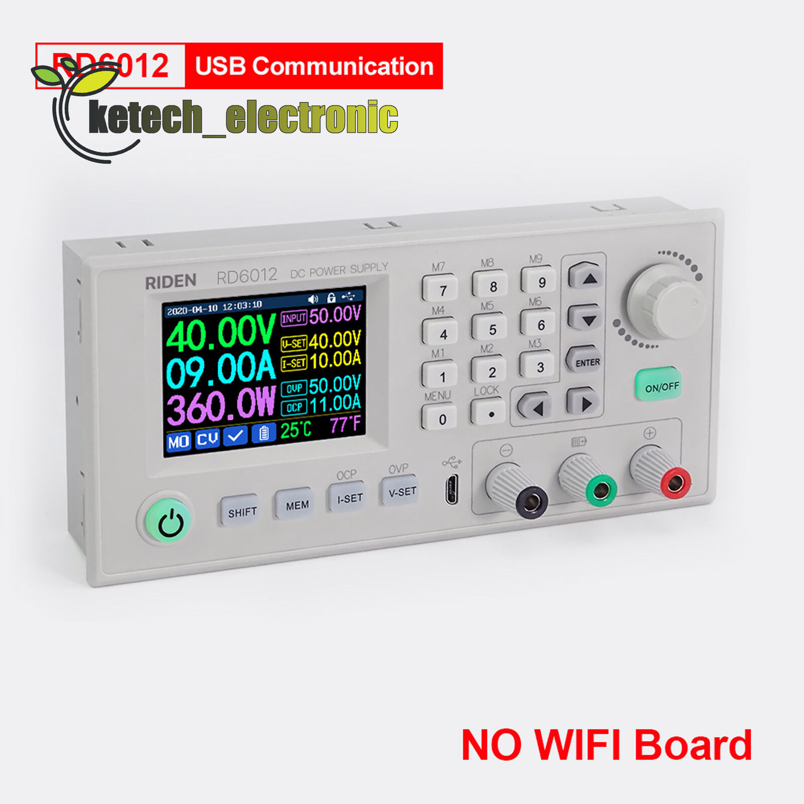 RD6012 RD6012W USB WiFi DC-DC Voltage Current Step Down Power Supply Module