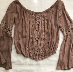 5ca25928a9f Image is loading Charlotte-Russe-Girls-Medium-Top-Spring-Boho-Crochet-