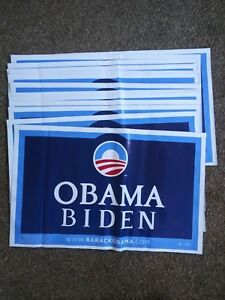 Lot-of-3-Barack-Obama-Biden-Presidential-Campaign-2008-Lawn-Sign-New-Old-Stock