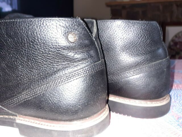 Mens Timberland black leather shoes/boots size 7.5. Suit school or formal!