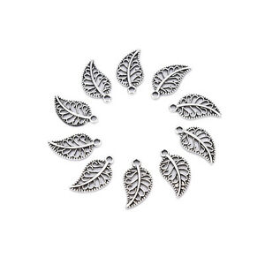 50-Assorted-Leaves-Tibetan-Silver-Alloy-Charm-Pendants-DIY-Jewelry-Findings-BH