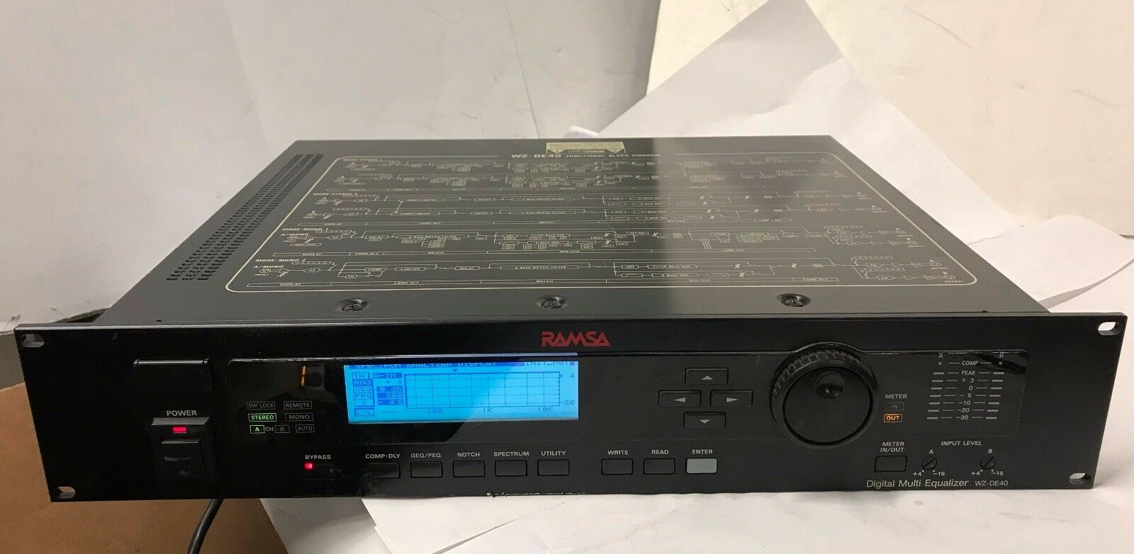Panasonic RAMSA Digital Equalizer WZ-DE40