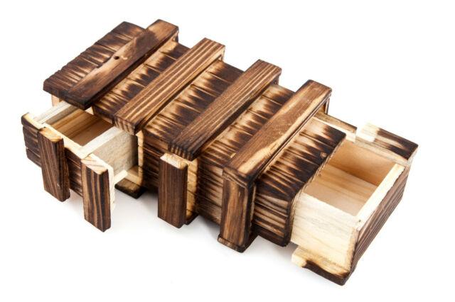 Brainteaser Magic Wooden Box Puzzle