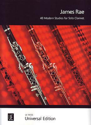 40 Modern Studies  Solo Clarinet - JAMES RAE  - UE19735 AMEB Pr,1,2,3,4,5,6 & 7