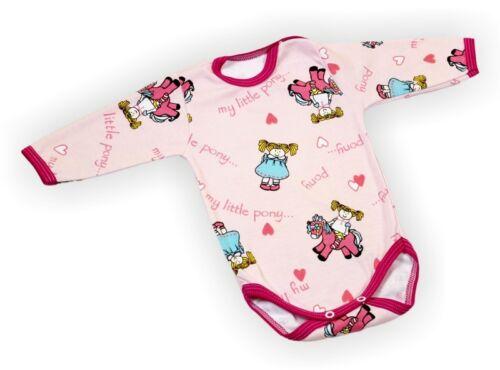 BABY Body Canotta Boy Girl CLOTHES BODYSUITS Maniche Lunghe 0-3-6-9-12-18-24 mesi