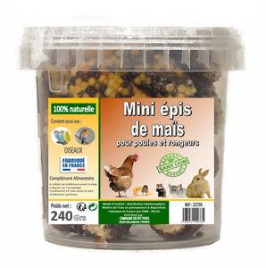 MINI-EPIS-DE-MAIS-POUR-RONGEURS-LAPIN-COCHON-D-039-INDE-RAT-240-GRS-Ref-A22735