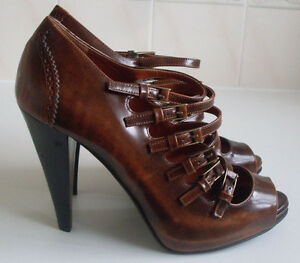 BALLY-Brown-Strappy-Peep-Toe-Pumps-Heels-Shoes-Size-EU-39-UK-6-RRP-450