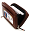 New-Solid-Genuine-Leather-Accordion-Style-Credit-Card-Holder-Women-039-s-Wallet