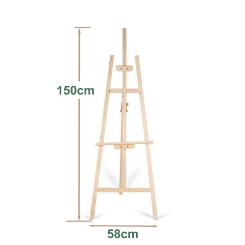 1500mm 1750mm 2-Sizes Wooden Pine Tripod Studio Canvas Easel Art Stand Painting