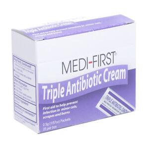 Waterjel Triple Antibiotic Ointment Individual Packets 25/box