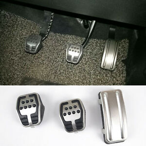 FIT-FOR-FORD-FOCUS-MK2-05-11-M-T-ST-FOOT-PEDAL-COVER-CLUTCH-ACCELERATOR-PAD-SET