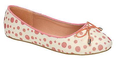 Spot on H2428 Mädchen weiß/rot ohne Bügel Textil Freizeit Ballerina Schuhe