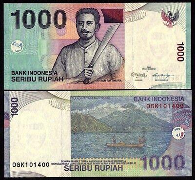 P-141-1//10 BUNDLE UNCIRCULATED 2013-2016 1000 x 10 PCS INDONESIA RUPIAH
