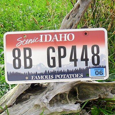 Echte Kennzeichen'kennzeichen Von'idaho (8bgp448) - Usa - Nummernschild Yet Not Vulgar