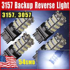 4x 7000K Cool White 3157/3156/3057 54-SMD Backup Reverse DRL LED  Light Bulbs
