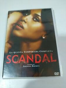 Scandal Stagione Season 5 Quinta Completa Shonda Rhimes 6 X DVD Spagnolo English