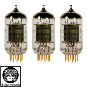 New Gain Matched Trio 3x Electro-Harmonix 12AT7 ECC81 Gold Pin Vacuum Tubes