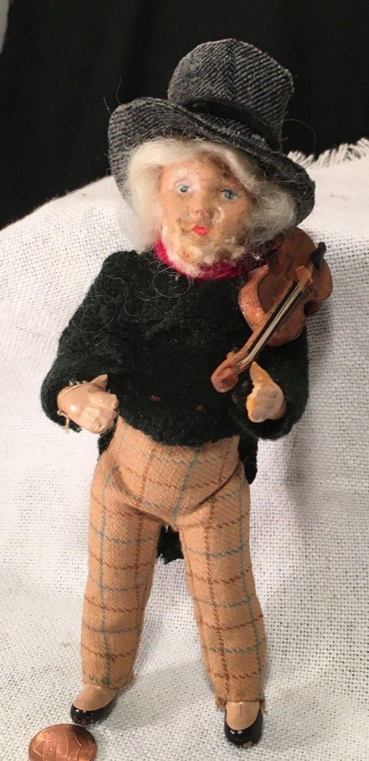 Antiguo Violín violinista Muñeca Biscuit Alemana Eduardiano todos hechos a mano  temprano 1900s