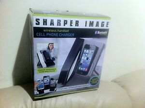New Sharper Image Bluetooth Wireless Handset Cell Phone Charger Iphone Samsung Ebay