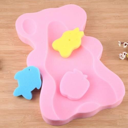 Infant Bath Sponge Mat Non-slip Sponge Cartoon Bath Mat Baby Care  Accessories