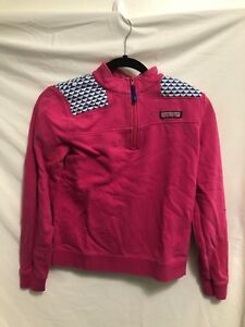 a105435f20 Image is loading Vineyard-Vines-Pink-Quarter-Zip-Sweater-Youth-Large-