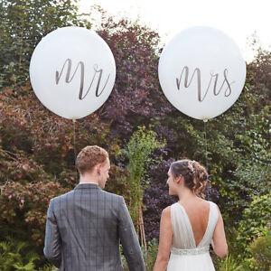 Xxl Luftballons Mr Mrs 91 Cm Boho 2 Stuck Hochzeit