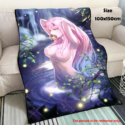 Anime Darling in the FranXX Zero Two Soft Warm Flannel Plush Travel Blanket Gift