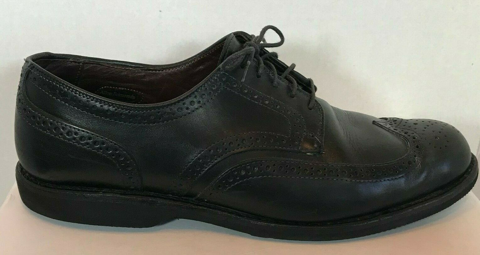 Allen Edmonds Road Warriors Men's Brogue shoes Size 12 Black Lace Leather